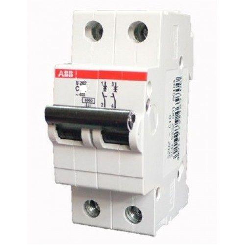 Автомат AbbАвтоматические выключатели<br>Номинальный ток: 63, Тип выключателя: автомат, Количество полюсов: 2, Номинальная отключающая способность: 6000, Степень защиты от пыли и влаги: IP 20, Количество модулей: 2<br>