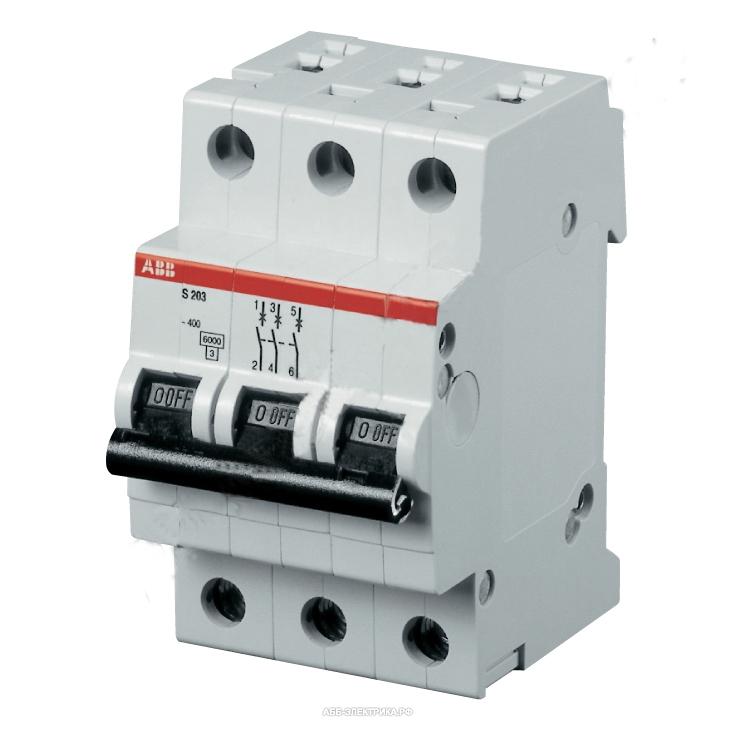 Автомат AbbАвтоматические выключатели<br>Номинальный ток: 63,<br>Тип выключателя: автомат,<br>Количество полюсов: 3,<br>Номинальная отключающая способность: 6000,<br>Степень защиты от пыли и влаги: IP 20,<br>Количество модулей: 3<br>