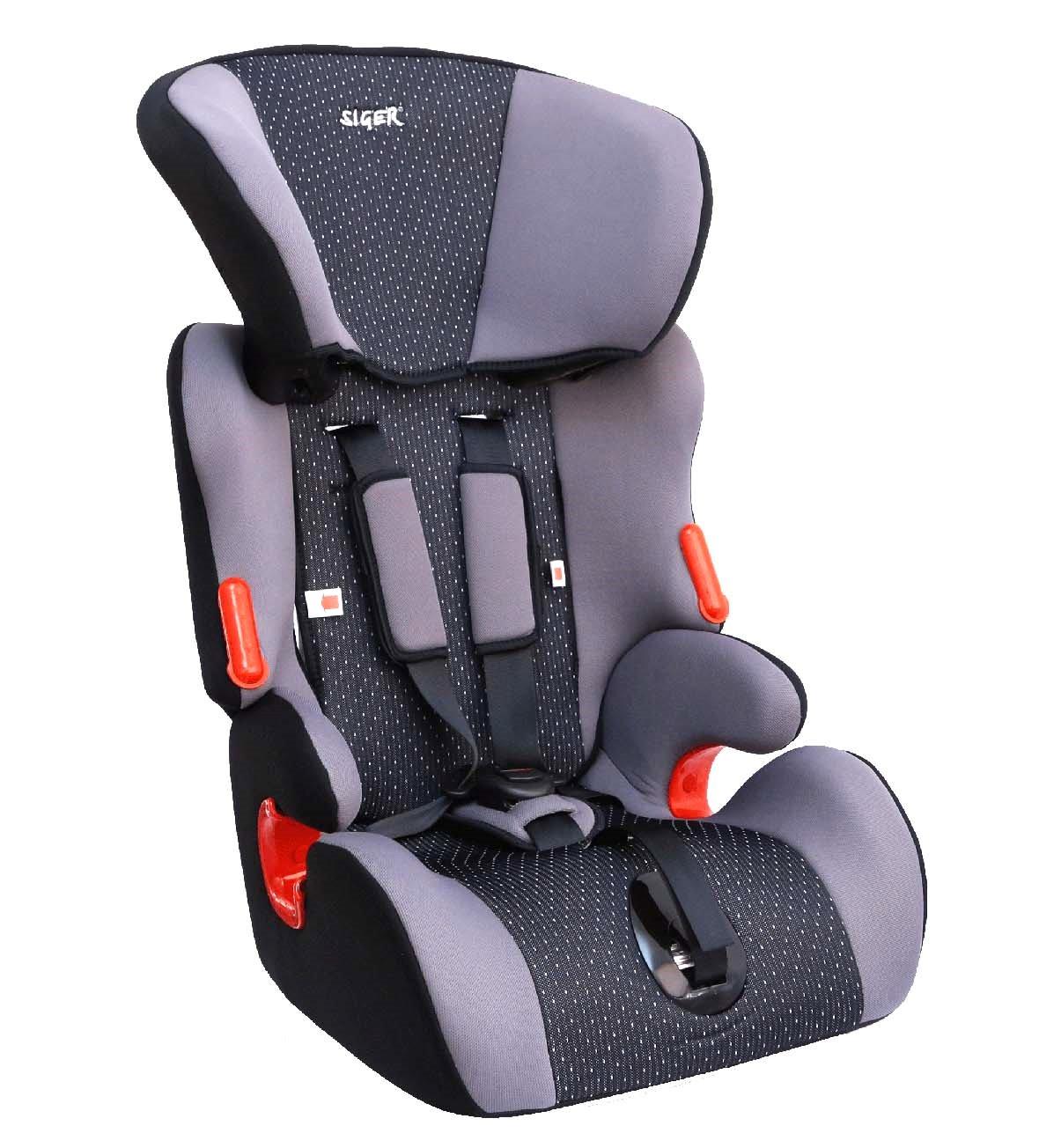 Детское автомобильное кресло SigerДетские автокресла<br>Группа: 1/2/3 (9-36 кг), Способ установки: лицом вперед, Регулировка наклона спинки: есть, Регулировка высоты подголовника: есть, Регулировка внутренних ремней: есть<br>