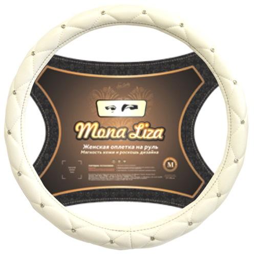 Оплетка Mona lizaОплетки на руль<br>Размер руля: M (38 см),<br>Материал оплетки: кожа<br>