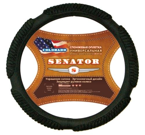 Оплетка SenatorОплетки на руль<br>Размер руля: XL (42см),<br>Материал оплетки: спонж<br>