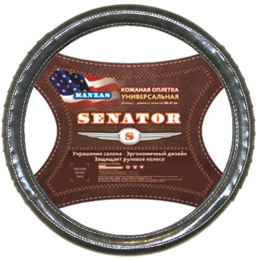 Оплетка SenatorОплетки на руль<br>Размер руля: XL (42см),<br>Материал оплетки: кожа<br>