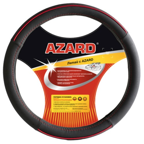 Оплетка AzardОплетки на руль<br>Размер руля: XL (42см),<br>Материал оплетки: винил<br>