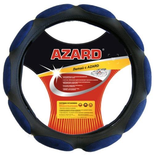 Оплетка AzardОплетки на руль<br>Размер руля: L (40 см),<br>Материал оплетки: спонж<br>
