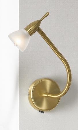 Бра LussoleНастенные светильники и бра<br>Тип: бра, Назначение светильника: для комнаты, Стиль светильника: модерн, Материал светильника: металл, стекло, Тип лампы: галогенная, Количество ламп: 1, Мощность: 40, Патрон: G9, Цвет арматуры: золото<br>
