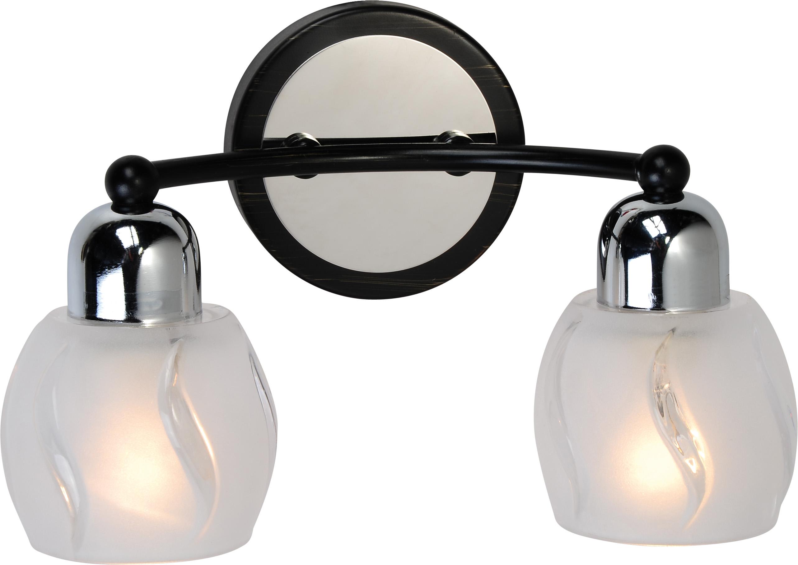 Бра LussoleНастенные светильники и бра<br>Тип: настенный,<br>Назначение светильника: для комнаты,<br>Стиль светильника: модерн,<br>Материал светильника: металл, стекло,<br>Тип лампы: накаливания,<br>Количество ламп: 2,<br>Мощность: 40,<br>Патрон: Е14,<br>Цвет арматуры: хром,<br>Ширина: 260<br>