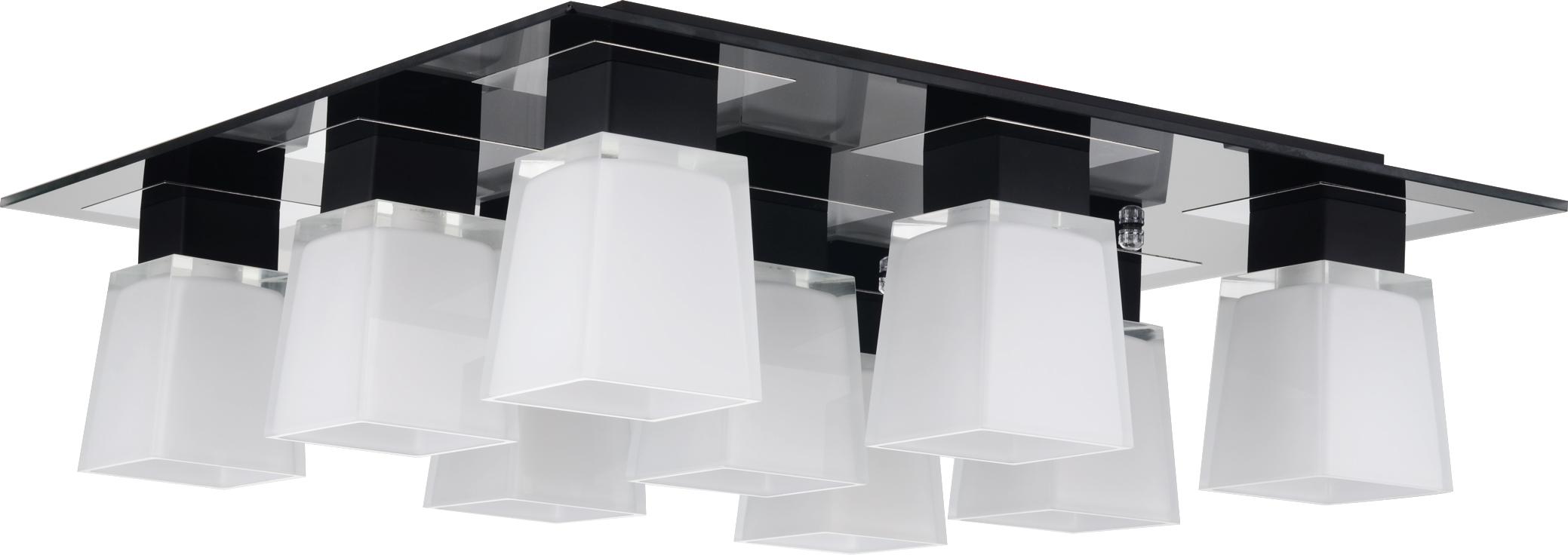 Люстра LussoleЛюстры<br>Назначение светильника: для гостиной,<br>Стиль светильника: модерн,<br>Тип: потолочная,<br>Материал светильника: металл, стекло,<br>Материал плафона: стекло,<br>Материал арматуры: металл,<br>Длина (мм): 190,<br>Ширина: 630,<br>Количество ламп: 9,<br>Тип лампы: накаливания,<br>Мощность: 40,<br>Патрон: Е14,<br>Цвет арматуры: хром<br>