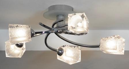 Люстра LussoleЛюстры<br>Назначение светильника: для комнаты,<br>Стиль светильника: модерн,<br>Тип: потолочная,<br>Материал светильника: металл, стекло,<br>Материал плафона: стекло,<br>Материал арматуры: металл,<br>Длина (мм): 170,<br>Ширина: 480,<br>Количество ламп: 5,<br>Тип лампы: галогенная,<br>Мощность: 40,<br>Патрон: G9,<br>Цвет арматуры: хром<br>