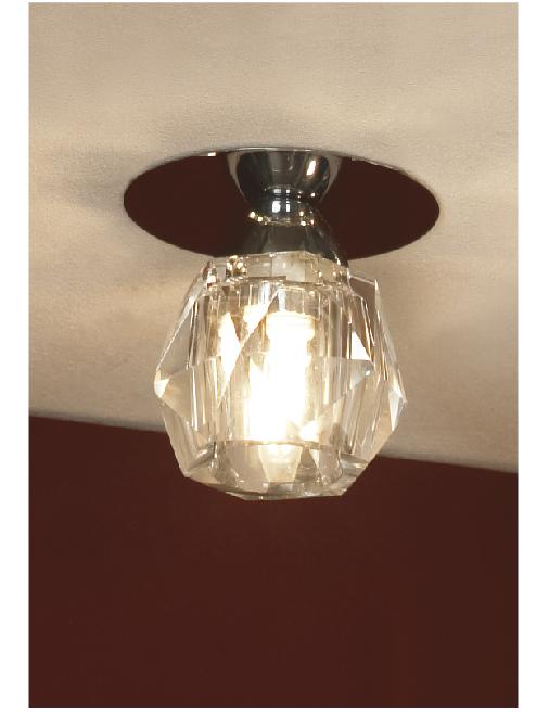 Светильник LussoleСветильники встраиваемые<br>Стиль светильника: модерн,<br>Форма светильника: круг,<br>Материал светильника: металл, стекло,<br>Количество ламп: 1,<br>Тип лампы: галогенная,<br>Мощность: 40,<br>Патрон: G9,<br>Цвет арматуры: хром<br>