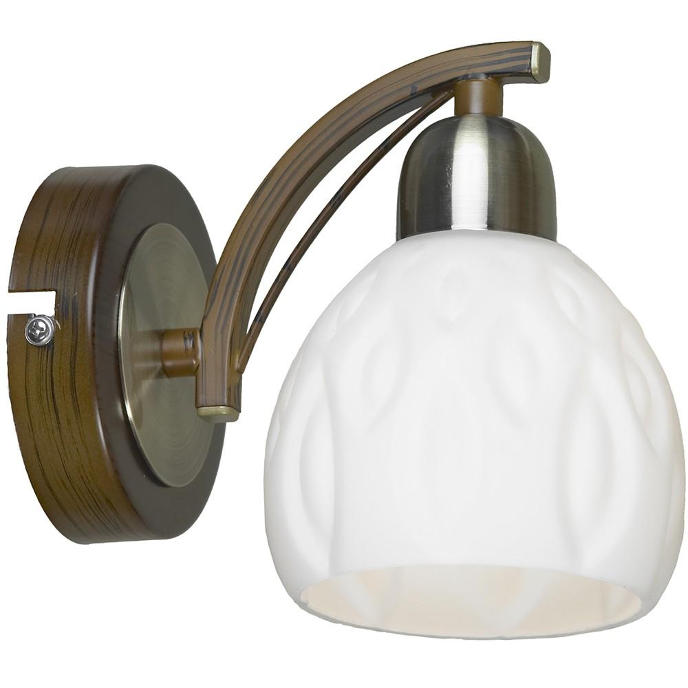 Светильник LussoleНастенные светильники и бра<br>Назначение светильника: для комнаты, Стиль светильника: модерн, Тип лампы: накаливания, Количество ламп: 1, Мощность: 40, Патрон: Е14, Цвет арматуры: античная бронза<br>