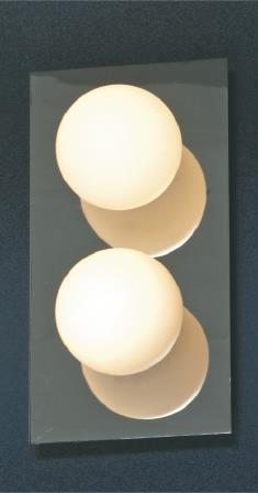 Светильник LussoleСветильники настенно-потолочные<br>Мощность: 40,<br>Количество ламп: 2,<br>Назначение светильника: для комнаты,<br>Стиль светильника: модерн,<br>Материал светильника: металл, стекло,<br>Тип лампы: галогенная,<br>Ширина: 130,<br>Патрон: G9,<br>Цвет арматуры: хром<br>