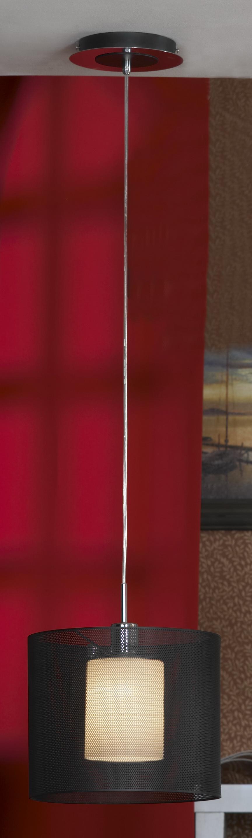 Подвес LussoleСветильники подвесные<br>Количество ламп: 1, Мощность: 60, Назначение светильника: для комнаты, Стиль светильника: модерн, Материал светильника: металл, стекло, Длина (мм): 1500, Ширина: 300, Тип лампы: накаливания, Патрон: Е27, Цвет арматуры: черный<br>