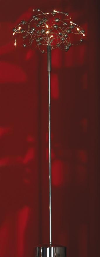 Торшер LussoleТоршеры<br>Стиль светильника: модерн,<br>Назначение светильника: для комнаты,<br>Материал светильника: металл, стекло,<br>Ширина: 600,<br>Количество ламп: 12,<br>Тип лампы: галогенная,<br>Мощность: 10,<br>Патрон: G4,<br>Цвет арматуры: матовый никель/хром<br>