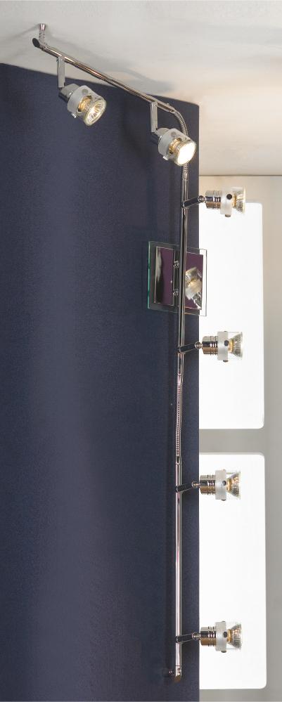 Спот LussoleСпоты<br>Тип: спот,<br>Стиль светильника: модерн,<br>Материал светильника: металл, стекло,<br>Количество ламп: 6,<br>Тип лампы: галогенная,<br>Мощность: 50,<br>Патрон: GU10,<br>Цвет арматуры: хром,<br>Ширина: 120<br>