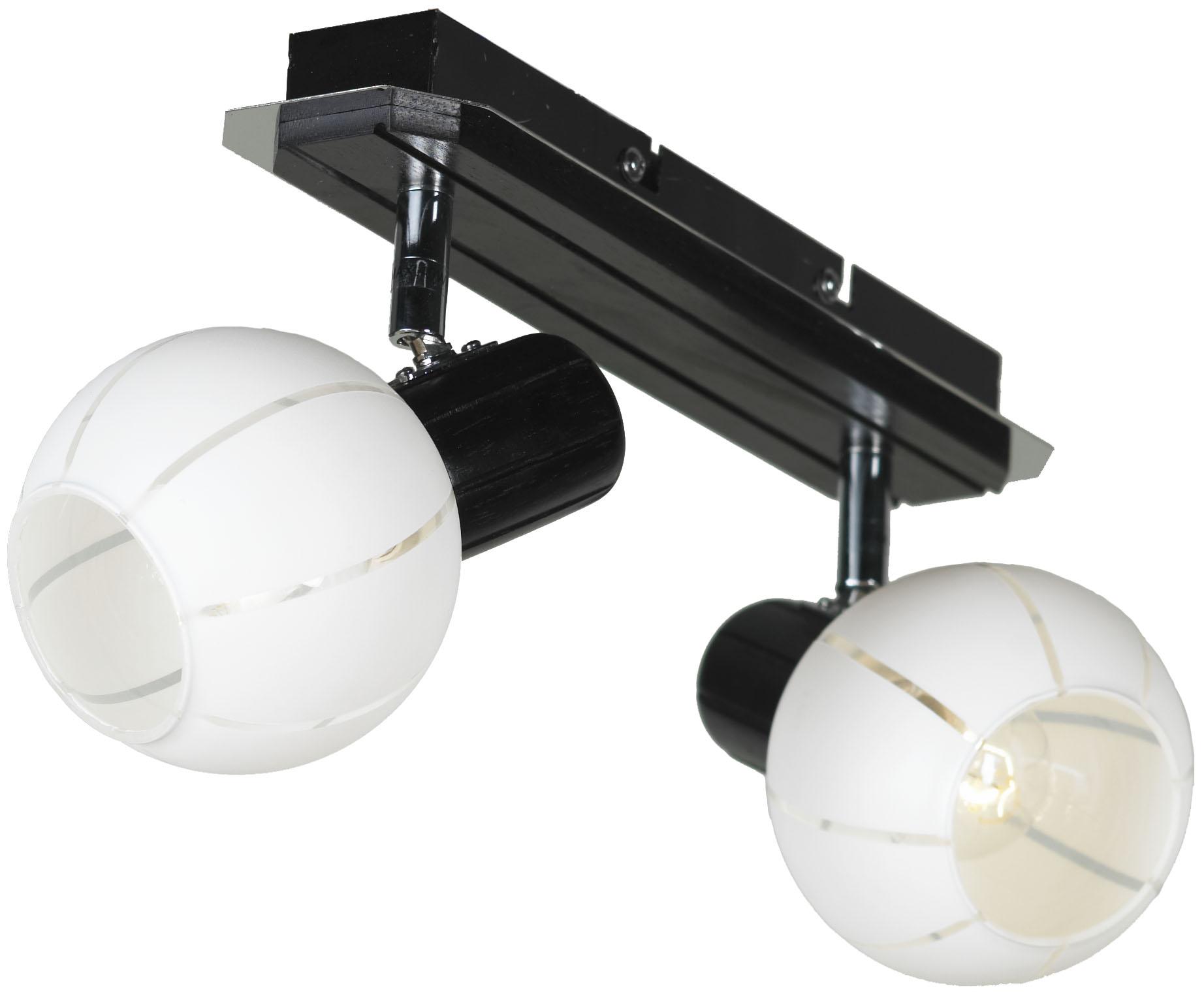 Спот LussoleСпоты<br>Тип: спот, Стиль светильника: модерн, Материал светильника: металл, стекло, Количество ламп: 2, Тип лампы: накаливания, Мощность: 40, Патрон: Е14, Цвет арматуры: хром, Ширина: 130<br>