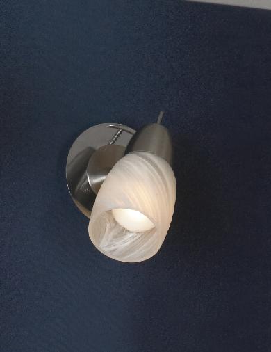 Спот LussoleСпоты<br>Тип: спот,<br>Стиль светильника: модерн,<br>Материал светильника: металл, стекло,<br>Количество ламп: 1,<br>Тип лампы: накаливания,<br>Мощность: 40,<br>Патрон: Е14,<br>Цвет арматуры: никель,<br>Ширина: 90<br>