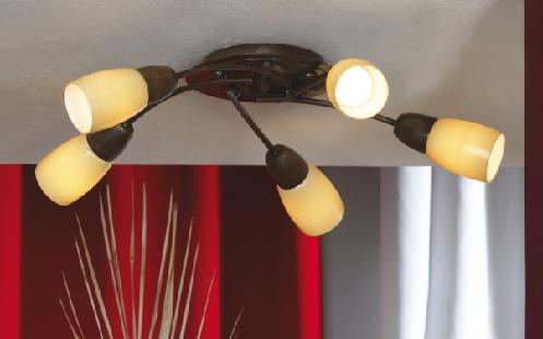 Спот LussoleСпоты<br>Тип: спот,<br>Стиль светильника: модерн,<br>Материал светильника: металл, стекло,<br>Количество ламп: 5,<br>Тип лампы: накаливания,<br>Мощность: 40,<br>Патрон: Е14,<br>Цвет арматуры: дерево,<br>Ширина: 540,<br>Длина (мм): 140<br>