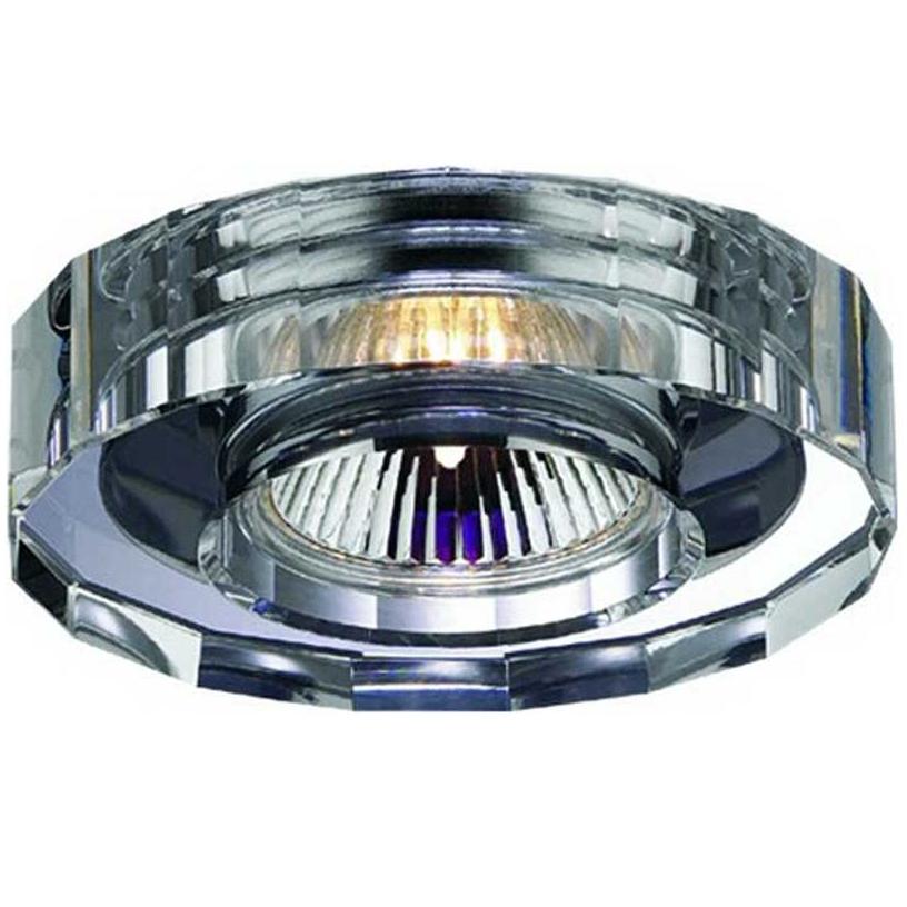 Светильник встраиваемый NovotechСветильники встраиваемые<br>Стиль светильника: модерн,<br>Диаметр: 62,<br>Форма светильника: круг,<br>Материал светильника: металл, хрусталь,<br>Количество ламп: 1,<br>Тип лампы: галогенная,<br>Мощность: 50,<br>Патрон: GX5.3,<br>Цвет арматуры: хром,<br>Назначение светильника: для комнаты<br>