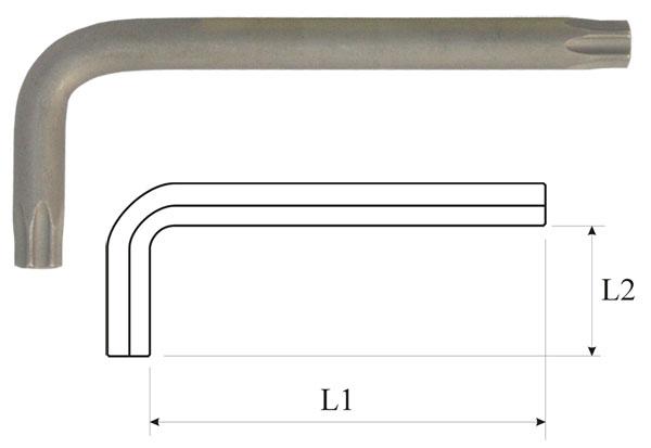 Ключ torx t25 угловой длинный Aist