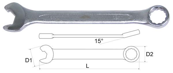 Ключ гаечный комбинированный AistКлючи гаечные<br>Тип: комбинированный,<br>Длина (мм): 207,<br>Размер ключа минимальный: 18,<br>Размер ключа максимальный: 18<br>