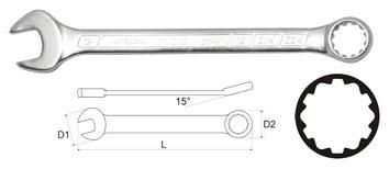 Ключ гаечный комбинированный AistКлючи гаечные<br>Тип: комбинированный, Длина (мм): 175, Размер ключа минимальный: 13, Размер ключа максимальный: 13<br>