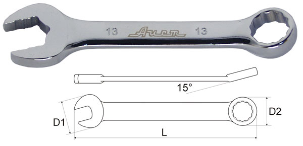 Ключ гаечный комбинированный 17х17 AistКлючи гаечные<br>Тип: комбинированный,<br>Длина (мм): 130,<br>Размер ключа минимальный: 17,<br>Размер ключа максимальный: 17<br>