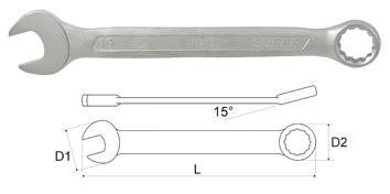 011208-m, Ключ гаечный комбинированный