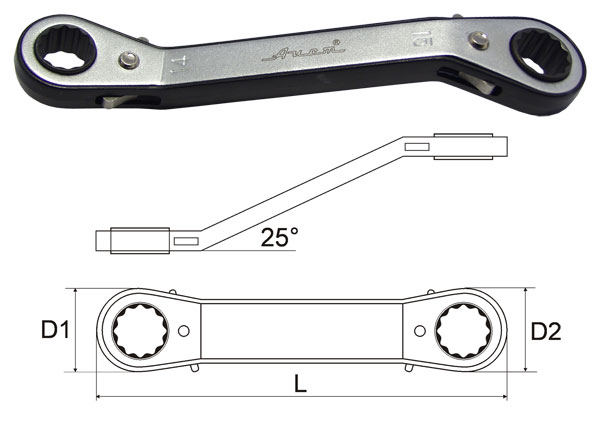 Ключ гаечный накидной 16х17 AistКлючи гаечные с трещоткой<br>Длина (мм): 200,<br>Размер ключа максимальный: 17,<br>Размер ключа минимальный: 16,<br>Количество зубьев: 24<br>