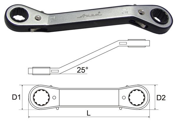 Ключ гаечный накидной 16х18 AistКлючи гаечные с трещоткой<br>Длина (мм): 200, Размер ключа максимальный: 18, Размер ключа минимальный: 16, Количество зубьев: 24<br>