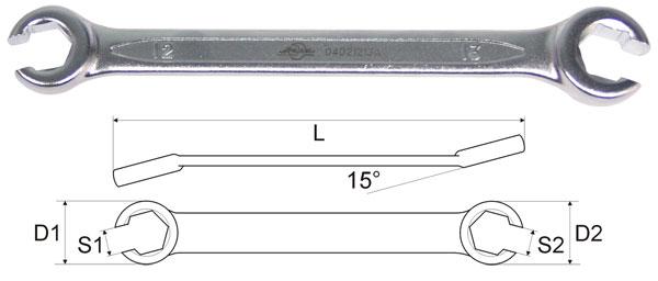 Ключ AistКлючи гаечные<br>Тип: разрезной,<br>Длина (мм): 145,<br>Размер ключа минимальный: 8,<br>Размер ключа максимальный: 9<br>