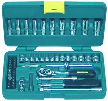 Набор инструментов в пластиковом кейсе, 61 предмет Aist
