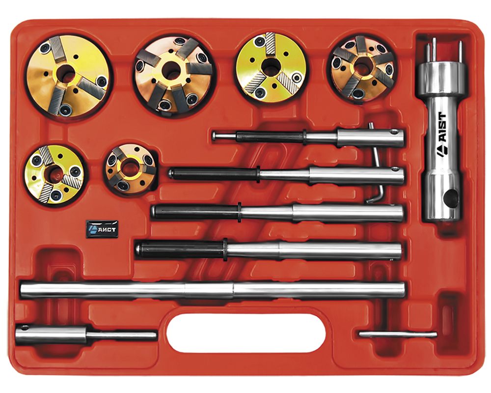 Набор AistИнструмент для ремонта двигателя<br>Тип: инструмент,<br>Назначение инструмента: для клапанных седел,<br>Набор: есть<br>