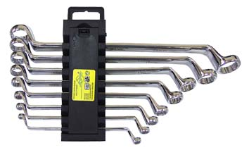 Набор накидных ключей, 8 предметов AistКлючи гаечные<br>Тип: накидной,<br>Размер ключа минимальный: 6,<br>Размер ключа максимальный: 24,<br>Набор: есть,<br>Ключей в наборе: 8<br>