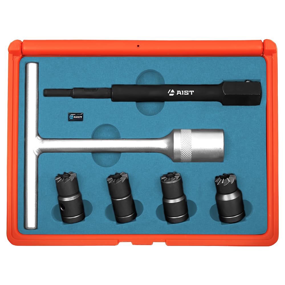 Набор AistИнструмент для ремонта двигателя<br>Тип: развертка,<br>Назначение инструмента: для седел форсунок,<br>Набор: есть<br>
