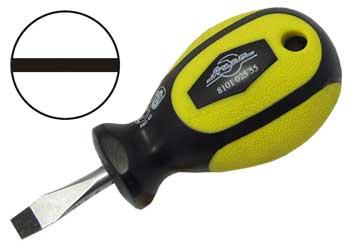 Отвертка шлицевая AistОтвертки<br>Тип наконечника: SL (шлиц),<br>Тип отвертки: стандартная,<br>Длина (мм): 86,<br>Тип рукоятки: прямая<br>