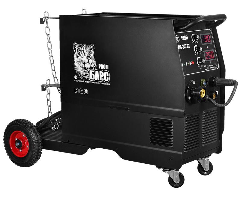 Сварочный полуавтомат БАРССварочное оборудование<br>Макс. сварочный ток: 250,<br>Мощность: 9200,<br>Мощность полная: 9200,<br>Напряжение: 220,<br>Мин. входное напряжение: 198,<br>Напряжение холостого хода: 56.5,<br>Мин. диаметр электрода: 2,<br>Макс. диаметр электрода: 5,<br>Мин. диаметр проволоки: 0.6,<br>Макс. диаметр проволоки: 1,<br>Тип сварочного аппарата: инверторный,<br>Тип сварки: полуавт./дуговая (MIG/MAG/MMA),<br>Инверторная технология: есть,<br>Размеры: 880х296х616,<br>Степень защиты от пыли и влаги: IP 21,<br>Класс: проф.,<br>Режим работы ПН %: 35<br>