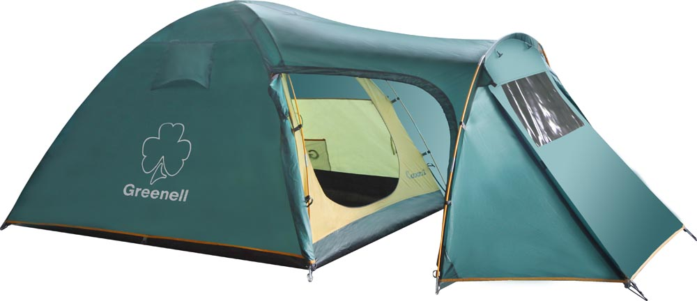 Палатка GreenellПалатки<br>Тип палатки: кемпинговый,<br>Назначение палатки: туризм,<br>Количество мест: 4,<br>Количество комнат: 1,<br>Количество входов: 3,<br>Форма палатки: купол,<br>Сезон: лето,<br>Тамбур: есть,<br>Количество слоев тента: 1,<br>Родина бренда: Ирландия,<br>Дно палатки: есть,<br>Материал: полиэстер,<br>Цвет: зеленый,<br>Вес нетто: 6.03<br>
