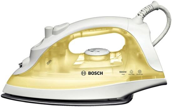 Утюг BoschУтюги<br>Мощность: 1800,<br>Материал подошвы: металлокерамика,<br>Постоянная подача пара: есть,<br>Вертикальное отпаривание: есть,<br>Объем резервуара для воды: 0.22,<br>Система защиты от накипи: есть,<br>Система самоочистки: есть,<br>Длина шнура: 1.8,<br>Мерный стакан: есть<br>