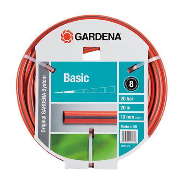 Шланг GardenaШланги садовые<br>Тип: шланг,<br>Тип шланга: поливочный,<br>Длина (м): 20,<br>Диаметр на выходе (в дюймах): 1/2<br>