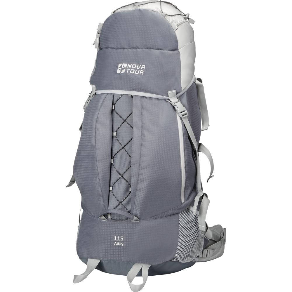 Рюкзак Nova tourРюкзаки<br>Назначение рюкзака: туристический,<br>Тип: рюкзак,<br>Объем: 115,<br>Материал: полиэстер,<br>Цвет: серый/светло-серый<br>