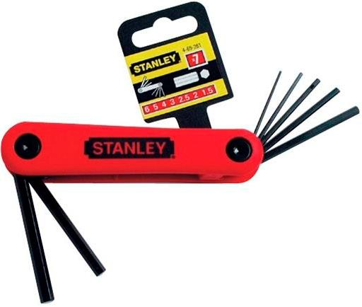 Набор торцевых шестигранных ключей на рукоятке, 7 шт. Stanley