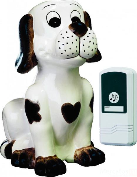 Звонок ElroЗвонки<br>Тип: звонок,<br>Тип звонка: беспроводной,<br>Количество мелодий: 1,<br>Радиус действия: 75,<br>Цвет: белый,<br>Источники питания: AA,<br>Степень защиты от пыли и влаги: IP 20<br>