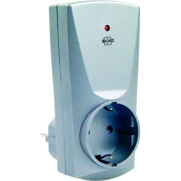 Розетка ElroУправление электричеством<br>Тип: розетка,<br>Максимальная подключаемая мощность: 400,<br>Степень защиты от пыли и влаги: IP 20,<br>Максимальная дальность действия: 50,<br>Частота радиосигнала, МГц: 433.92,<br>Цвет: металлик,<br>Размеры: 110х200х70,<br>Сила тока: 1.7<br>