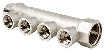Коллектор ValtecКоллекторы для труб<br>Материал фитинга: латунь, Тип трубного соединения: резьба, Присоединительный размер: 3/4<br>
