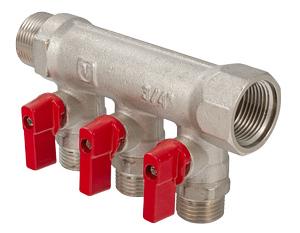 Коллектор ValtecКоллекторы для труб<br>Тип трубного соединения: резьба,<br>Присоединительный размер: 1/2<br>