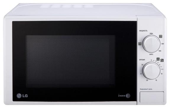 Микроволновая печь LgМикроволновые печи<br>Мощность: 700,<br>Объем: 20,<br>Внутреннее покрытие: эмаль,<br>Расположение: отдельностоящая,<br>Размеры: 455х284х347,<br>Вес нетто: 11.5,<br>Переключатели: поворотные,<br>Гриль: есть,<br>Управление: механическое,<br>Цвет: белый,<br>Открывание дверцы: кнопка,<br>Режим разморозки: есть<br>