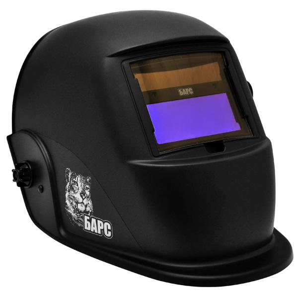 Маска сварщика хамелеон БАРССварочные маски<br>Тип: маска, Плавная регулировка: есть, Степень затемнения: 9-13, Размер смотрового окна: 110x41<br>