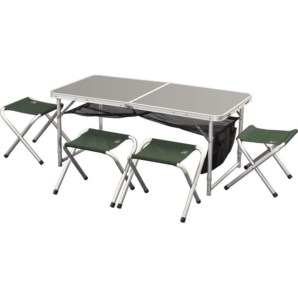 Набор мебели GreenellМебель для кемпинга<br>Тип: набор,<br>Материал: алюминий,<br>Максимальная нагрузка: 80,<br>Количество предметов в наборе: 5,<br>Вес нетто: 7.6<br>