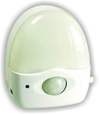 Ночник ElroНочники<br>Способ установки: настольный, Тип лампы: светодиодная, Количество ламп: 1, Материал светильника: пластик, Датчик движения: есть, Назначение светильника: для детской комнаты, Цвет арматуры: белый<br>