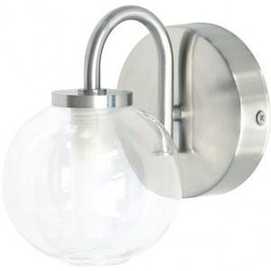 Светильник для ванной комнаты RanexСветильники для ванных комнат<br>Стиль светильника: современный,<br>Назначение светильника: для ванной комнаты,<br>Материал светильника: металл,<br>Мощность: 40,<br>Количество ламп: 1,<br>Тип лампы: галогенная,<br>Патрон: G9,<br>Цвет арматуры: матовое серебро,<br>Степень защиты от пыли и влаги: IP 23<br>
